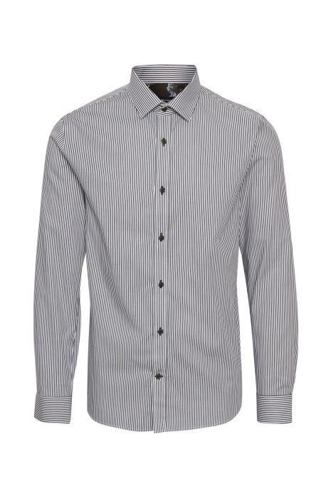 Skjorte fra Matinique - Matinique Trostol B5 - Hvis med sorte lodrette striber