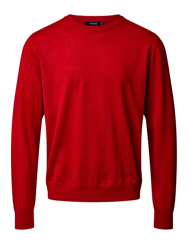 Belika Pullover - Rund hals - Rød
